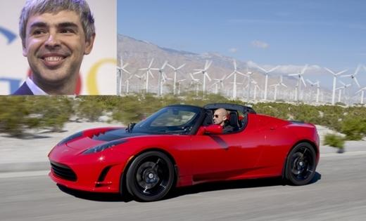 Giống như Brin, đồng sáng lập Google, Larry Page cũng sở hữu một chiếc xe Tesla. Cả Brin và Page đều là cổ đông lớn của Tesla.