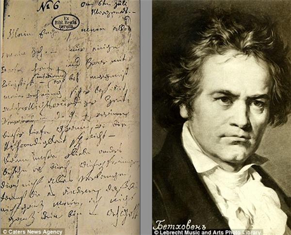 """Bức thư tình của Beethoven dành cho """"người tình bất tử"""". (Ảnh: Internet)"""