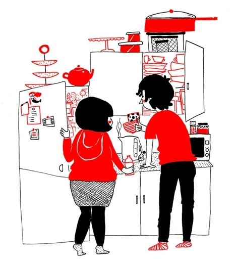 Đôi khi, tình yêu có thể được tìm thấy trong những điều đơn giản nhất, như dành thời gian loay hoay trong bếp chuẩn bịmột buổi sáng cùng nhau.