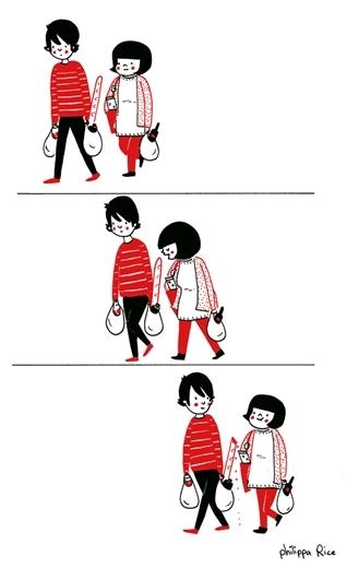 Cùng nhau đi mua sắm thì quãngđường dài cũng trở nên gần hơn.