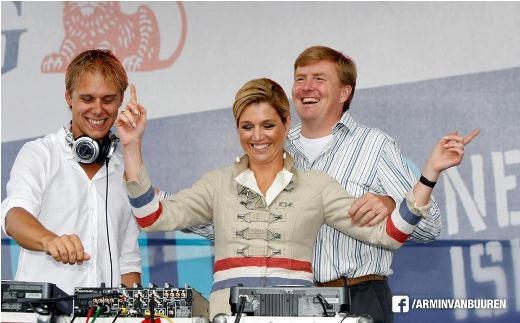 Màn trình diễn của Armin cho lễ đăng quang của Đức vua & Hoàng hậu mới của Hà Lan vào năm 2013.