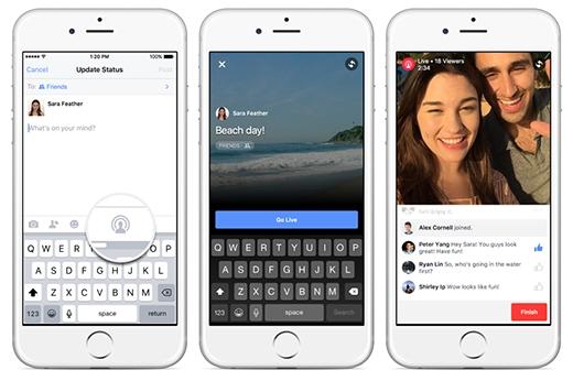 Người dùng Facebook có thể nhìn lấy được lượng người đang xem trực tuyến, bình luận trực tuyến. (Ảnh: Internet)