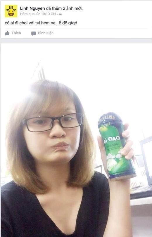 """""""… hem nè?"""" – một phiên bản khác xuất phát từ """"… hôn nè?"""" được cô nàng Linh Nguyễn """"ứng dụng"""" cho lời mời trên trang cá nhân của mình: """"Có ai đi chơi với tui hem nè…"""""""