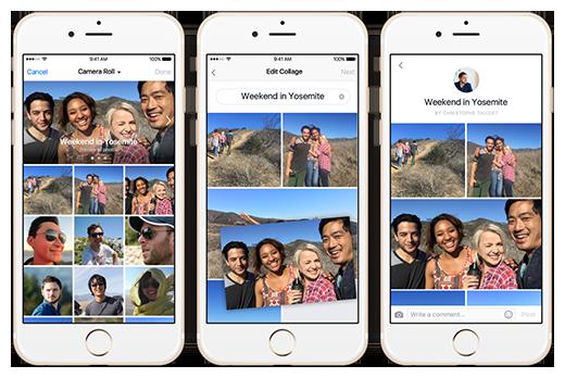 Tính năng ghép ảnh Collage của Facebook(Ảnh: Internet)