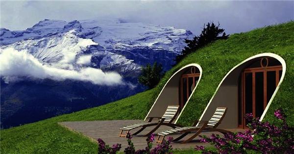 """Ngôi nhà """"lỗ Hobbit"""" này là một gợi ý tuyệt vời cho những người yêu thích lối sống tối giản và gần gũi thiên nhiên. (Ảnh: Bored Panda)"""