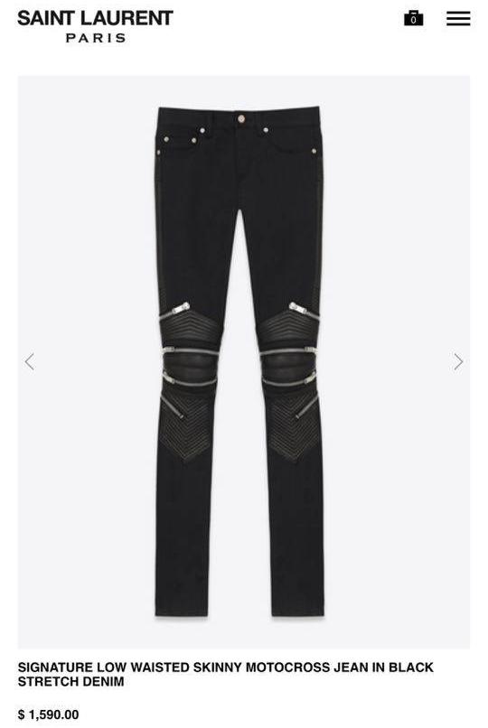 Chiếc quần da của Saint Laurent với điểm nhấn bởi đường khóa kéo khá độc đáo sẽ là một trong những món trang phục mà Sơn Tùng sẽ diện. Thiết kế này có giá 35 triệu đồng.
