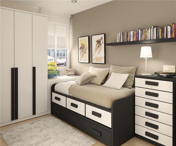 Những bức tranh trừu tượng, những cuốn truyện hoặc chồng tài liệu nhiều màu sắc cũng khiến căn phòng của bạn trông thật dễ thương.