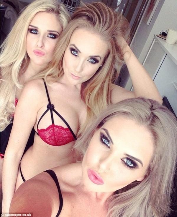 """Ba cô gái xinh đẹp kiếm được hàng trăm ngàn đô la Mỹmỗi tháng nhờ chụp ảnh """"tự sướng"""". (Ảnh: Internet)"""