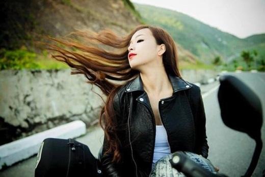Vẻ ngoài hút hồn của biker xứ Huế - Hoài Thương.(Ảnh: Internet)