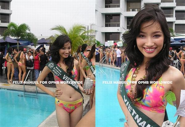 Năm 2007, Trúc Diễm tham dự Hoa hậu Trái đất và giành được giải phụ Hoa hậu Thời trang. Trong phần thi bikini, Trúc Diễm và các thí sinh được diện thiết kế nhiều màu sắc rực rỡ.