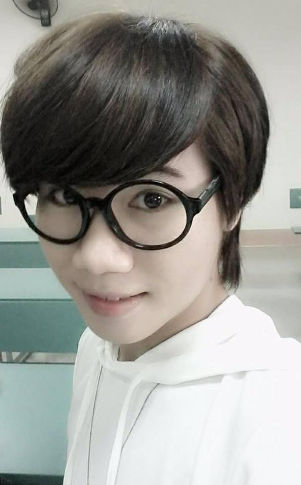 Gương mặt La Lam khi còn để tóc ngắn và mặc quần áo con trai. Ảnh: NVCC.
