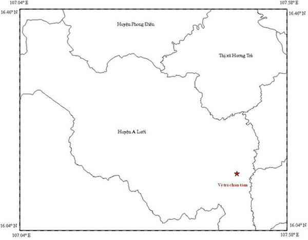 Hai trận động đất đã liên tiếp xảy ra vào trưa hôm qua và rạng sáng nay, 7/12, tại vùng núi thuộc huyện A Lưới và thị xã Hương Trà (tỉnh TT-Huế). (Ảnh: Dân Trí)