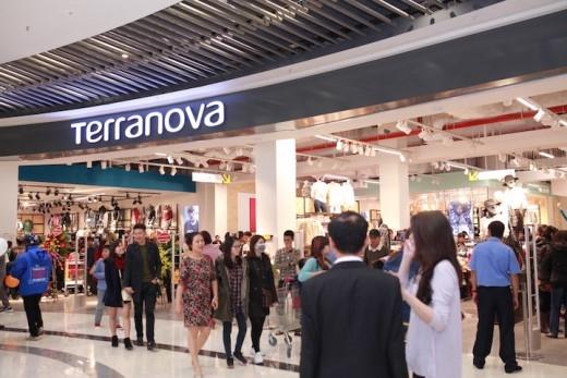 Cửa hàng Terranova tại AEON Mall Long Biên, Hà Nội.
