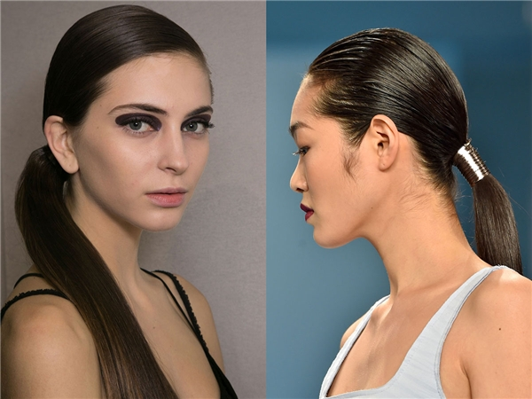 Đơn giản hơn, cột tóc kiểu đuôi ngựa thấp cũng là một lựa chọn không tệ. Nhìn vào chỉ thấy mái tóc bạn gọn gàng và quý phái thôi.