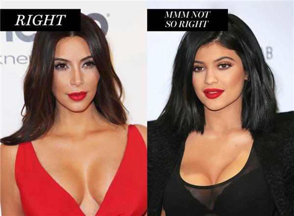 Không nên dùng phấn màu sáng quá nhiều khi tạo khối vì làm lộ vùng ngực make up.
