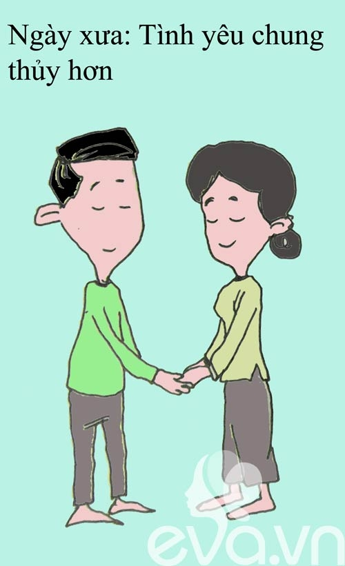 Sự khác biệt giữa tình yêu xưa và nay!
