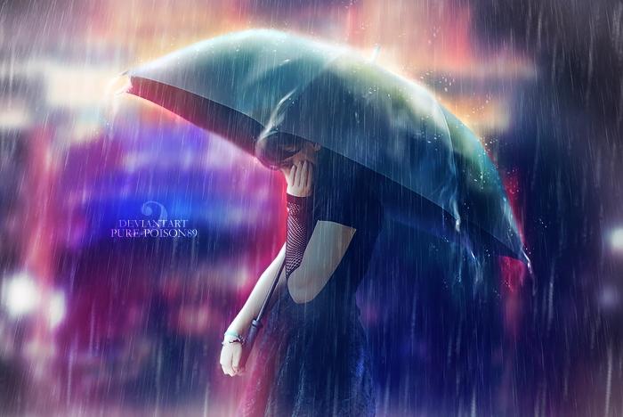 Mưa đã có ô. Sao em chưa có anh?
