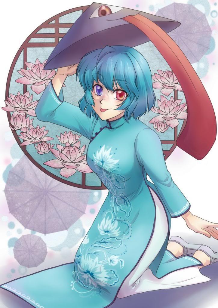 Ngắm áo dài Việt tuyệt đẹp trong tranh vẽ anime Nhật Bản!