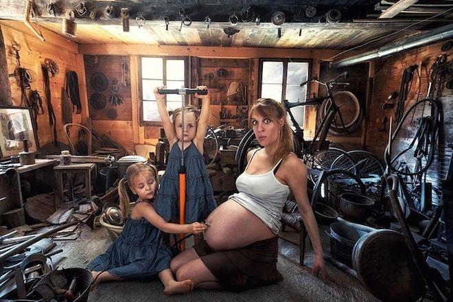 Bộ ảnh gia đình siêu thực vui nhộn gây sốt cộng đồng mạng