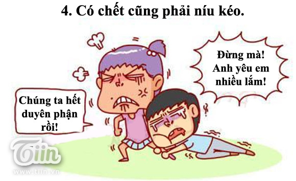 Bộ ảnh vui: 5 phản ứng của con trai khi con gái nói lời chia tay