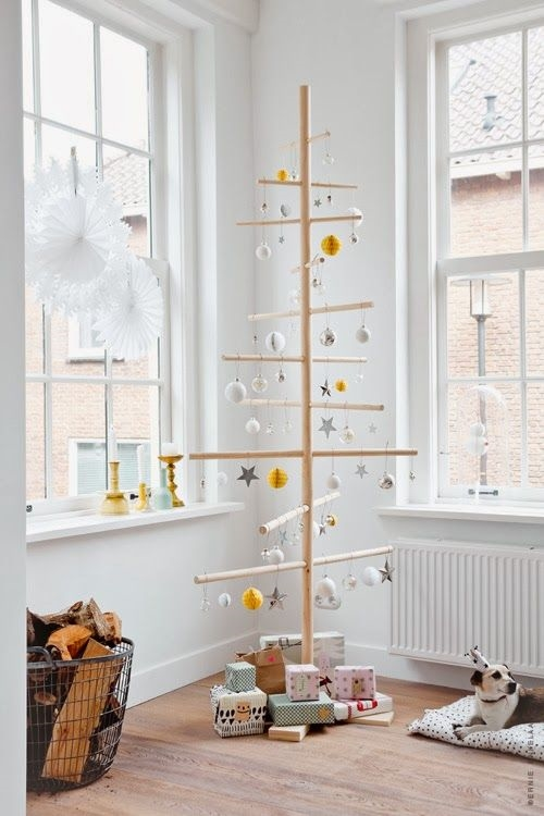 21 ý tưởng độc đáo và rẻ tiền để làm cây thông Noel tại nhà