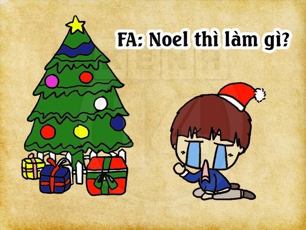 Tranh vui: F.A làm gì ngày Noel?