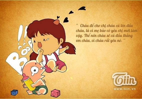 Tranh vui: Tình yêu thú vị trong mắt trẻ thơ