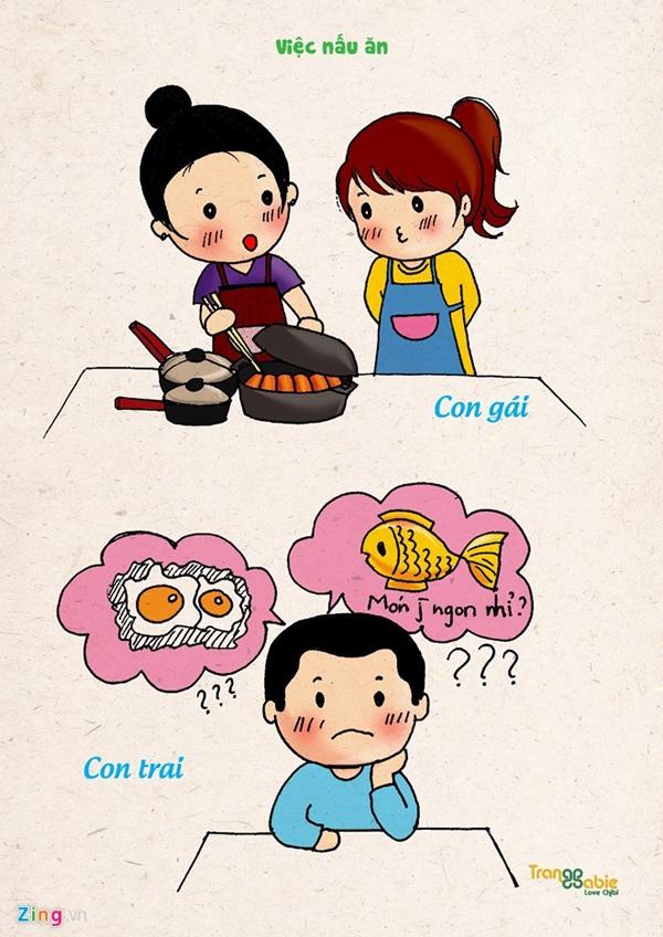 Sự khác biệt giữa con gái và con trai trước khi kết hôn