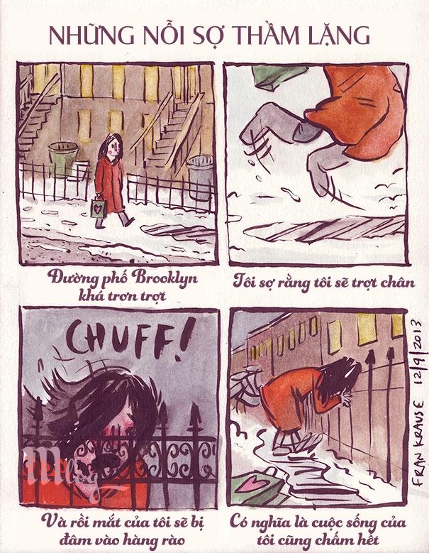 Bộ truyện tranh phác họa những nỗi sợ hãi kỳ cục nhất của con người theo một cách độc đáo