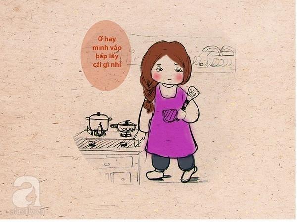 Tranh vui: Những tình huống bi hài của cô nàng đãng trí