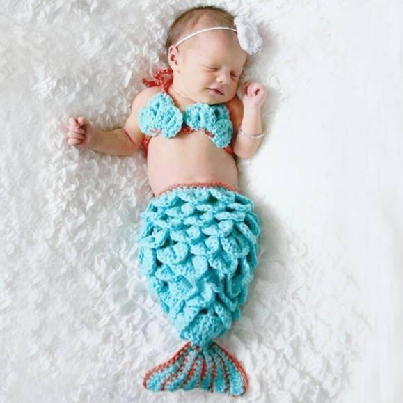 Siêu dễ thương với bộ ảnh bé hóa thân thành nàng tiên cá