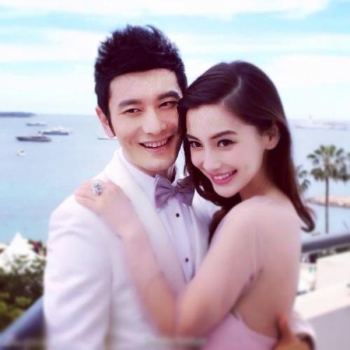 Ảnh cưới lãng mạn của Angelababy và Huỳnh Hiểu Minh