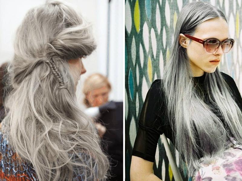 Trào lưu tóc granny cho xuân hè 2015