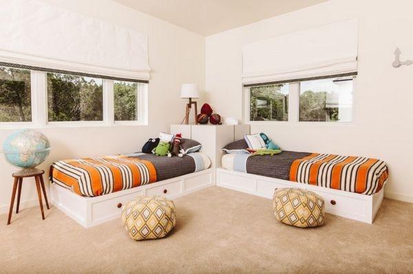 Những kiểu giường góc phù hợp với phòng ngủ nhỏ