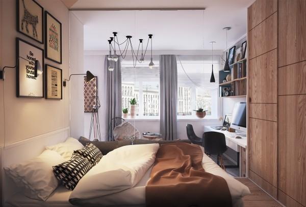 Biến hóa căn hộ dưới 45 mét vuông theo phong cách hiện đại