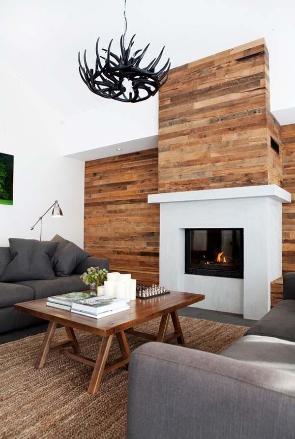 cách trang trí tường phòng khách