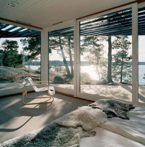 phòng ngủ bằng kính