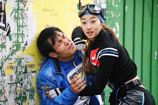 Choi Yeo Jin trong một pha hành động