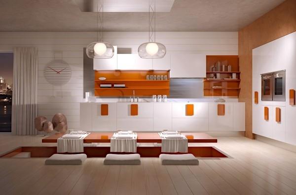 nhà bếp theo phong cách tối giản