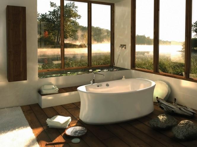 phòng tắm ngoài trời đẹp