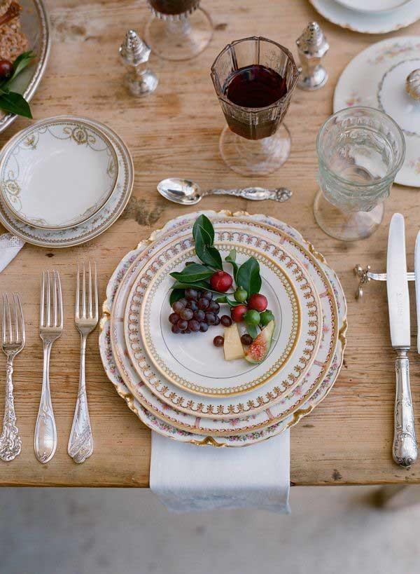 trang trí bàn ăn kiểu pháp