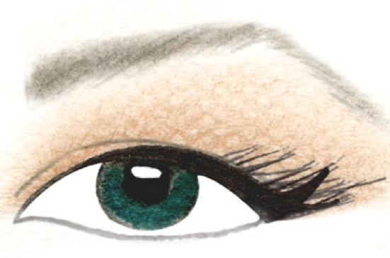 Bestie - makeup - trang điểm mắt dáng cụp