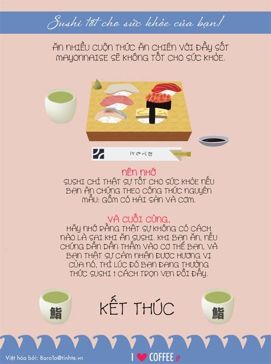 Infographic: Bạn đã biết cách ăn sushi?