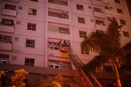 chung cư bị cháy