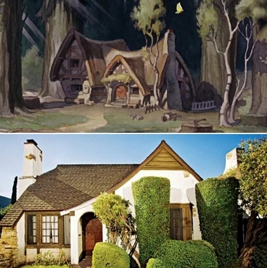 Ng t ng y v i 10 a danh t ng ch c trong phim disney for Snow white cottages los angeles
