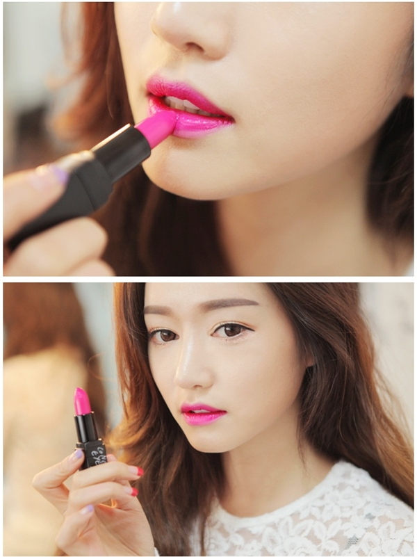 Màu hồng neon sẽ là lựa chọn đáng yêu với những cô nàng cá tính và năng động. Không chỉ khiến bạn trẻ trung, màu son này còn giúp răng trắng sáng hơn so với gam màu cam thường gây xỉn màu.