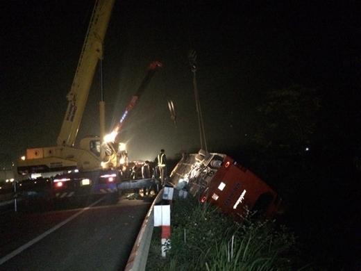 30 phút sau vụ tai nạn, cảnh sát đã có mặt để xử lý và đưa các nạn nhân đến bệnh viện