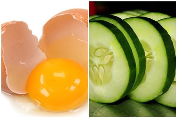 Nước ép dưa leo kết hợp với lòng trắng trứng cũng là một lựa chọn không tồi cho da nhờn.