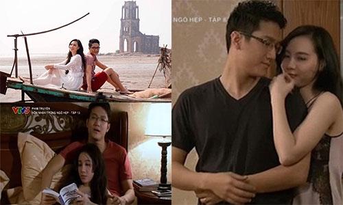 """Chí Nhân và Minh Hà trong phim """"Hôn nhân trong ngõ hẹp"""". - Tin sao Viet - Tin tuc sao Viet - Scandal sao Viet - Tin tuc cua Sao - Tin cua Sao"""