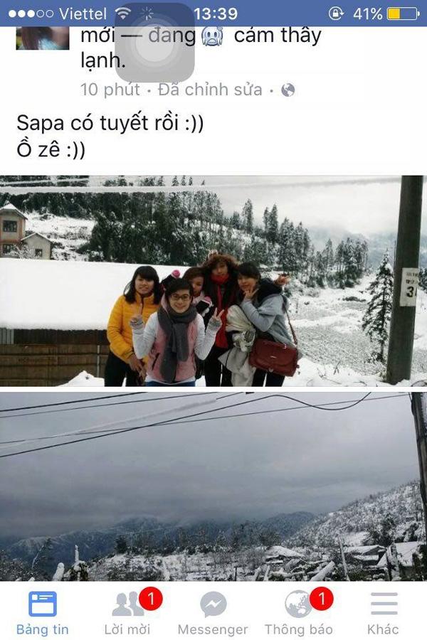 Tuyết ở Sa Pa hóa ra chỉ rơi trên Facebook!